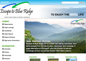 Escape to Blue Ridge home page